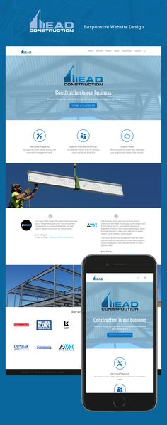 Mead Construction - Responsive website for local construction company Mead, Construction, Marketing, Website, Business, Design, Building, Design Comics