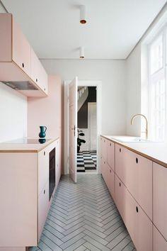my scandinavian home: My Kitchen Renovation: 5 Kitchen Colours I love Right Now pink contemporary design pink modern simple Best Ikea, Scandinavian Kitchen, Scandinavian Design, Scandinavian Interiors, Danish Kitchen, Cuisines Design, Ikea Furniture, Küchen Design, Design Ideas