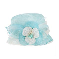 1920s Flapper Sinamay Hat in Aqua | Flapper & Great Gatsby Style Headpieces | Art Deco & Vintage Inspired Accessories | Something Special