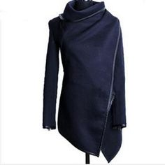 Gender: WomenOuterwear Type: TrenchDecoration: Button,Zippers,SplicedClothing Length: RegularPattern Type: SolidType: Wide-waistedClosure Type: Open StitchStyle: FashionFabric Type: JerseyMaterial: Cotton,PolyesterCollar: TurtleneckSleeve Length: FullModel Number: WCB0003Suitable temperature: 8℃-15℃ & 45℉-60℉  size Cross Shoulder(cm) Chest Width(cm) Body Length(cm) Sleeve Length(cm)   S 42 90 83 0   M 43 94 84 0   L 44 98 85 0   XL 45 102 86 0   XXL 46 106 87 0   XXXL 47 110 88 0