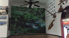 Decoración de pared completa con impresión digital de alta definición y grandes dimensiones sobre soporte adhesivo. Aquarium, Windows, Interior, Digital Prints, Adhesive, Vinyls, Impressionism, Goldfish Bowl, Design Interiors