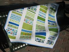 This quilt was produced with an assortment of fat quarters. The link to the pattern is posted as well.