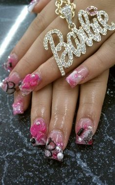 BARBIE - Nail Art Gallery by NAILS Magazine... I wouldn't do this to my nails, but I like it!