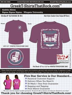 #trisigma #sigmasigmasigma HAVE A SHIRT DESIGN IDEA? Just email your ideas to contact@prographicssportswear.com and see what our artists can do for YOU!