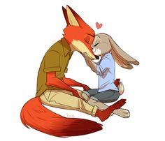 e621 2016 <3 anthro barefoot canine claws cute digital_media_(artwork) dipstick_tail disney duo eyes_closed female fox fur grey_fur inner_ear_fluff judy_hopps kissing kneeling lagomorph long_ears male mammal multicolored_tail nick_wilde nuzzling orange_fur rabbit raiilynezz romantic_couple simple_background size_difference smile toe_claws zootopia