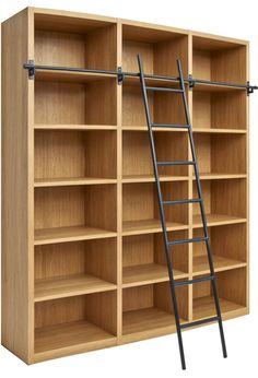 Camus Librería de madera con escalera