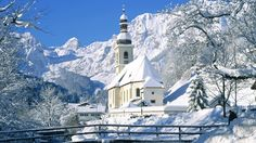 Berchtesgaden Austria | Named Ramsau Parish Church Reiteralpe Mountains Berchtesgaden Germany