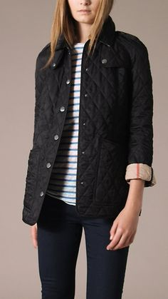 Burberry quilted coat. (Honestly, if I owned one, I sure as heck wouldn't wear it while gardening.) :)