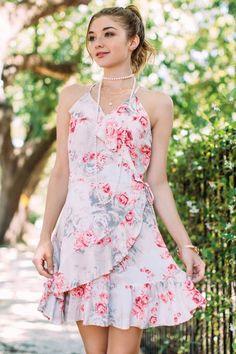 f66dc4fbd274 Hailey Ruffle Floral Wrap Dress