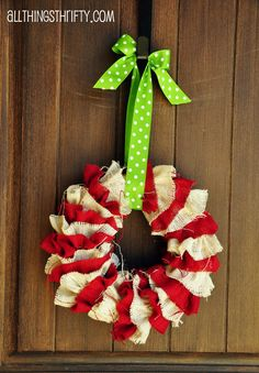 All Things Thrifty Home Accessories and Decor: Tutorial: DIY Christmas Wreath