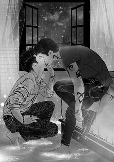 Malec - Magnus x Alec Malec Shadowhunters, Shadowhunters The Mortal Instruments, Clace, Shadow Hunters Cast, Malec Kiss, Mathew Daddario, Clary Y Jace, Fanart Bts, Magnus And Alec
