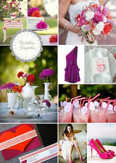 Fuchsia, Purple, & Red Wedding Palette Inspiration