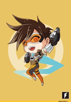 Overwatch,Blizzard,Blizzard Entertainment,фэндомы,Overwatch art,chibi,McCree,Widowmaker,Mercy (Overwatch),D.Va,Tracer,Genji (Overwatch),藤宅仔