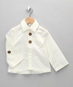 Made in the UK Boutique   Jake & Maya Beige Shirt - Toddler & Girls