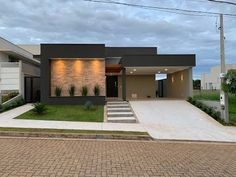 House Outside Design, House Front Design, Small House Design, Modern House Design, Contemporary House Plans, Modern House Plans, Bungalow Style House, Modern House Facades, Duplex House Design