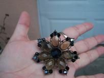vintage juliana navette mourning brooch pin gorgeous 40s