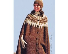 Image result for knitted poncho ladies knitting pattern free