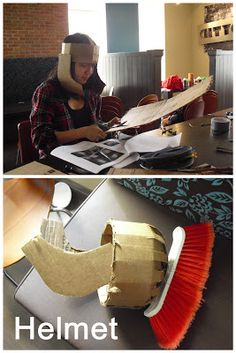 Making a Roman Soldier Costume Roman Soldier Helmet, Roman Soldier Costume, Greek God Costume, Nativity Costumes, Diy Costumes, Xmas Costumes, Athena Costume, Christmas Skits, Biblical Costumes