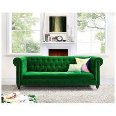 Tov Furniture, TOV-S42, Sofas And Loveseat, Tov Furniture Tov S42 Hanny Green Velvet Sofa