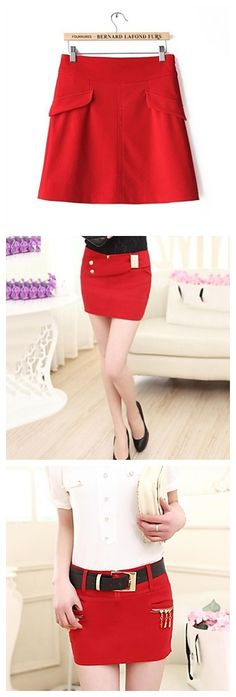 Don't you love short and tight red skirts like these? Take a look!