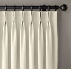 Restoration Hardware Thai Silk Solid French Pleat Drapes x - 2 panels Short Curtains, Pleated Curtains, Velvet Curtains, Curtains With Blinds, Panel Curtains, Silk Drapes, Rideaux Design, French Pleat, Custom Shades