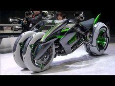 "Kawasaki ""J"" Concept - electric motorcycle - 2013 Tokyo Motor Show - YouTube"