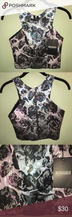 """NWT missguided top ❤️ bust 32-34"""" waist 24-26"""" hips 34-36""""                              ❤️ 16"""" in length Missguided Tops Crop Tops"""