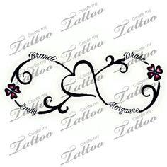 Tattoo with kids names | 4 kids name #280572 | CreateMyTattoo.com #TattooIdeasForKidsNames