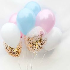 It's a boy....or maybe a girl?! Decorate for your special reveal celebration with this set of fun party balloons. This set matches perfectly with our gender reveal garland and straws. You will receive
