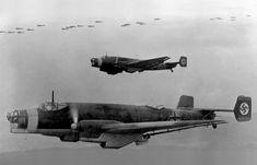 Junkers Ju 86 bombers in flight 1937