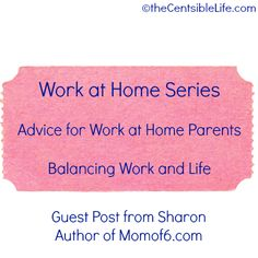 Work at Home: Balance work and 'real life'