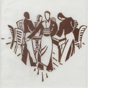 Lill Tschudi (Swiss, Waiters Linocut printed in brown, a good impression of this rare work, on tissue thin Japan paper, 145 x x 5 Native Indian, Linocut Prints, Artist At Work, Printmaking, Folk Art, Modern Art, Auction, Stamp, Japan