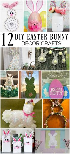 12 DIY Easter Bunny Decor Crafts #spring #easter #eastercrafts #easterbunny