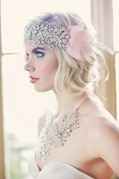 Ishtar Crystal Silk Organza Headpiece by GibsonBespoke on Etsy. with the  Bacall gown 0ec687735f
