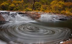 Kangaroo River, New South Wales, Australia A long exposure captures the whirlpool action of this section of river in the Southern Highlands region. Photo: Rhys Pope; see more on Facebook