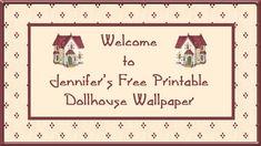 Free Doll's House Miniature Printable Wallpaper