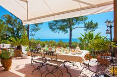 Breakfast on the terrace with sea view at Villa Casa Del Sole Guesthouse in Favone Corsica