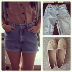 Seek Vintage: DIY: Vintage High Waisted Jean Shorts