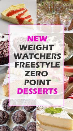 Weight Watchers Freestyle Zero Point Desserts by delia Weight Watcher Desserts, Weight Watchers Diet, Weight Loss Drinks, Weight Watchers Shakes, Weigh Watchers, Ww Desserts, Dessert Recipes, Drink Recipes, Cleanse Recipes