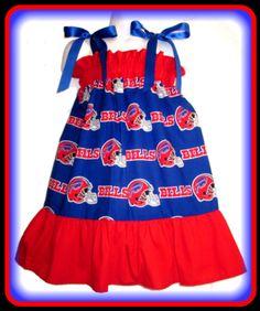 44d3ed52b NFL Buffalo Bills Boutique Pillowcase Dress Sizes  Toddler   Girls