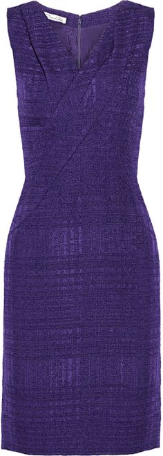 Oscar de la Renta ● tweed dress - classic - great lines - greater color - perfect material (lined) This dress can go to work, dress it up dinner & show, dress down casual - throw a sweater over the shoulders & pick up the groceries. So versatile. Love it.