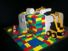 Some of our favourite cake designs from around the world. From Lego to Minecraft, including ace of cakes and choccywoccydoodah! Cake Design For Men, Cool Cake Designs, Lego Man Cake, Bulldozer Cake, Square Birthday Cake, Birthday Cakes, Cake Costume, Digger Cake, Piano Cakes