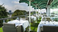 Excellent restaurant and views in London | The Roof Gardens
