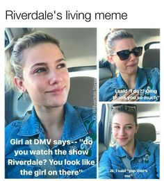 "#Riverdale 11k Likes, 4490 Comments - Riverdale ♔ (@riverdale.series) on Instagram: ""Iconic  @lilireinhart tag a friend who would love this! follow (@riverdale.series) for more """