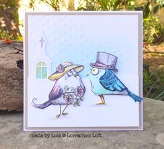 Lorraine's Loft: Simon Says Stamp Monday Challenge: Take A Leap Into The Unknown Crazy Dog, Crazy Bird, Crazy Cats, Crazy Animals, Wedding Shower Cards, Wedding Cards, Crazy Wedding, Tim Holtz Stamps, Simon Says Stamp