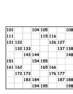 Hundreds Charts - Fill In Worksheets Printable Math Worksheets, Kindergarten Math Activities, Kindergarten Math Worksheets, School Worksheets, Teaching Math, Alphabet Writing Practice, Number Chart, Math Sheets, Math Words