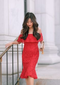 37c0ec2c23eb4 red lace dress holiday outfit cocktail party Petite Dresses