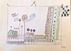 Doodle - colorierte Zeichnung - Erna