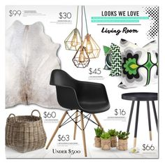 """""""Look we love"""" by justlovedesign ❤ liked on Polyvore featuring interior, interiors, interior design, home, home decor, interior decorating, Crate and Barrel, livingroom and under500"""