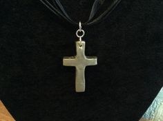 Simple cross made from Premo Silver